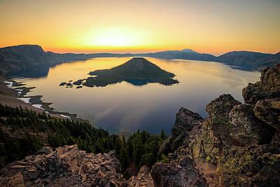 Pasta Al Dente - Crater Lake Sunrise by Johnny Adolphson