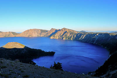 Photograph - Crater Lake Sunset by Dawn Richards