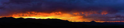 Photograph - Craters Of The Moon Idaho Sunset Panorama by Lawrence S Richardson Jr