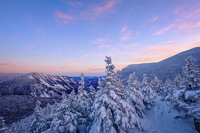 Photograph - Crawford Notch Winter View. by Jeff Sinon