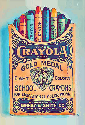 Digital Art - Crayola by Gary Grayson