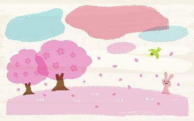 Crayon Spring Art Print by Taichi k