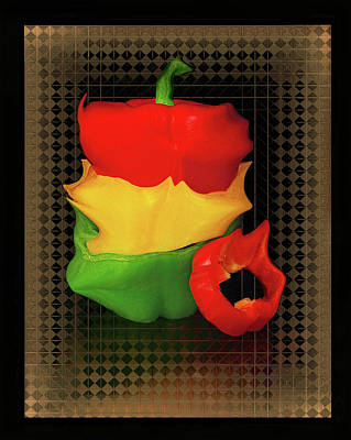 Digital Art - Crazy Colorful Bell Peppers  by Constance Lowery