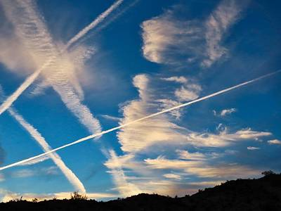 Photograph - Crazy Contrails by Judy Kennedy
