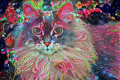 Digital Art - Crazy Daisy by Peggy Collins