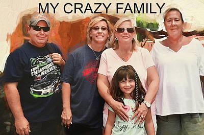 Crazy Family Art Print
