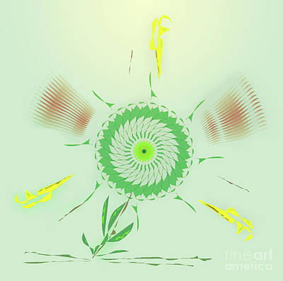 Crazy Spinning Flower Art Print