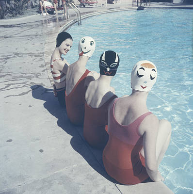 Photograph - Crazy Swim Caps by Ralph Crane