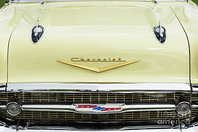 Photograph - Cream 1957 Chevrolet by Tim Gainey