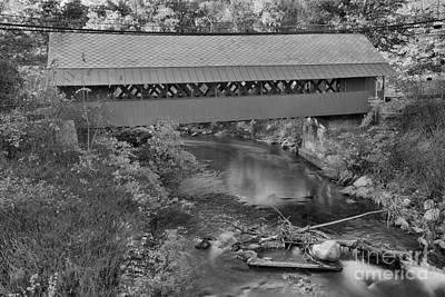 Photograph - Creamery Bridge Crossing Black And White by Adam Jewell