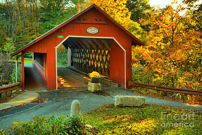 Photograph - Creamery Covered Bridge by Adam Jewell