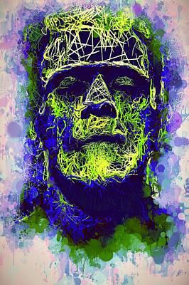 Mixed Media - Frankenstein Watercolor by Al Matra