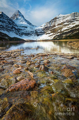 Photograph - Creek And Mt Assiniboine by Inge Johnsson