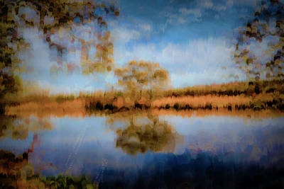 Photograph - Creek Reflection #i1 by Leif Sohlman