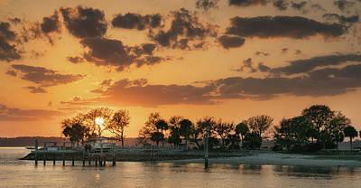 Photograph - Creek Sunset by Darylann Leonard Photography