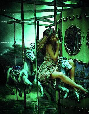 Digital Art - Creepy Carousel by Galatia420