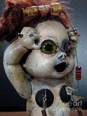 Mixed Media - Creepy Edison by Cindy DeGraw