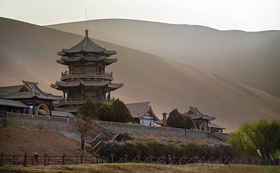 Photograph - Crescent Lake Pagoda Dunhuang Gansu China by Adam Rainoff