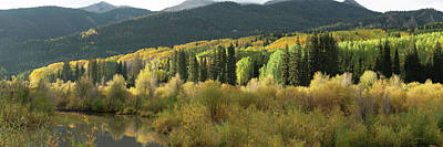 Art Print featuring the photograph Crested Butte Colorado Fall Colors Panorama - 1 by OLena Art Brand