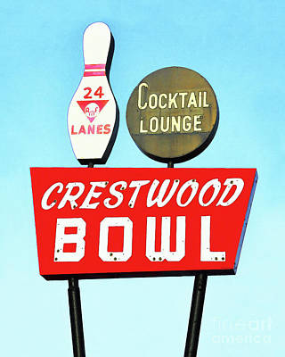 Photograph - Crestwood Bowl Bowling Alley 20190105a by Wingsdomain Art and Photography