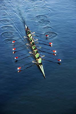 Crew Team Rowing Art Print by Fuse