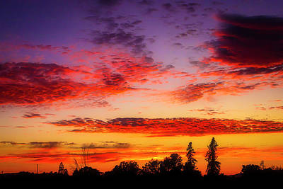 Photograph - Crimson Sunset by Garry Gay