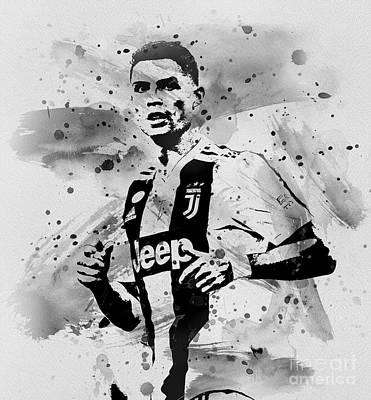 Digital Art - Cristiano Ronaldo by Ian Mitchell