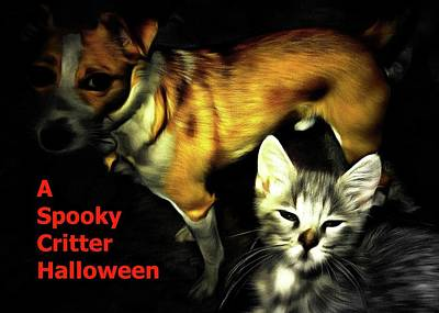 Photograph - Critter Halloween by Dorothy Berry-Lound