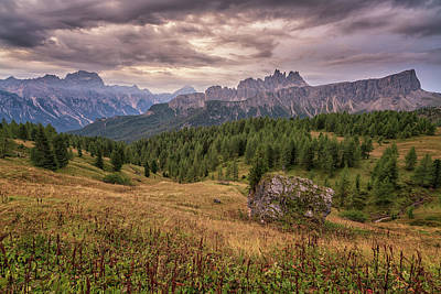 Photograph - Croda Da Lago Sunrise by James Billings