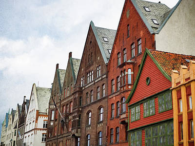 Photograph - Crooked Buildings Of Bergen Norway In Europe by Whitney Leigh Carlson