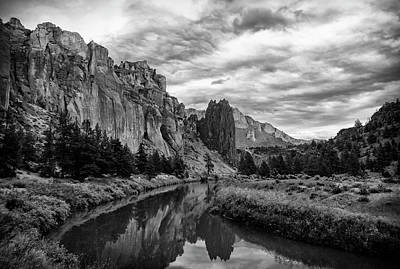 Photograph - Crooked River Reflections by Steven Clark