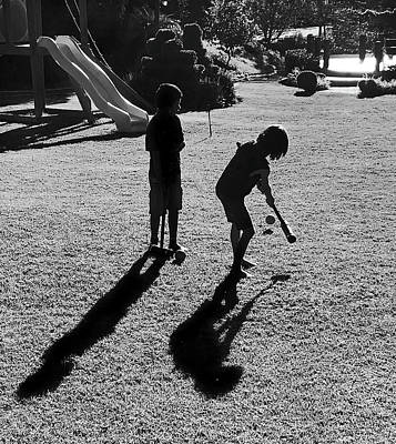 Photograph - Croquet And Shadows by Silvia Marcoschamer