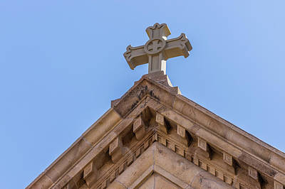 Photograph - Cross On The Top Of St. Francis Of Assisi Cathedral Basilica by Tim Stanley