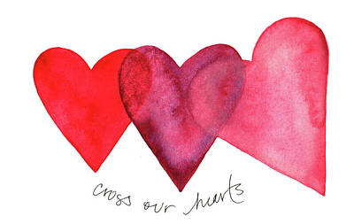 Painting - Cross Our Hearts by Anna Elkins