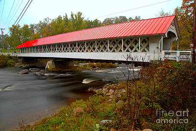 Photograph - Crossing The Ashuelot River by Adam Jewell