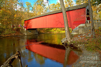 Photograph - Crossing The Ny Battenkill River by Adam Jewell