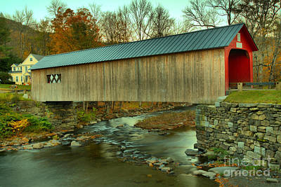 Photograph - Crossing The Vermont Green River by Adam Jewell