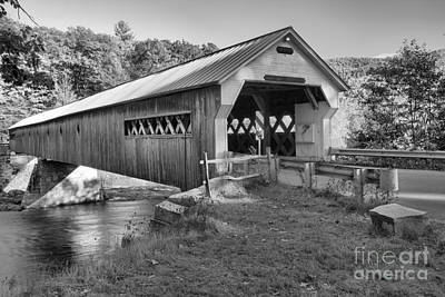 Photograph - Crossing The Vermont West River Black And White by Adam Jewell