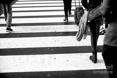 Photograph - Crossings Ahead Of The Pack New York City by John Rizzuto