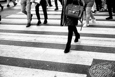 Photograph - Crossings Angles New York City by John Rizzuto