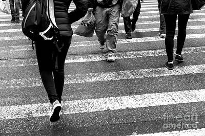 Photograph - Crossings Daily New York City by John Rizzuto