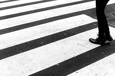 Photograph - Crossings Gingerly New York City by John Rizzuto