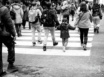 Photograph - Crossings Holding Hands New York City by John Rizzuto