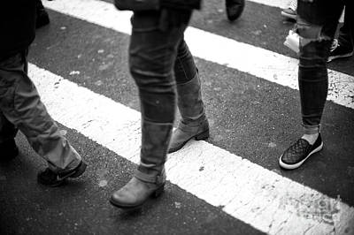 Photograph - Crossings In The Urban Jungle New York City by John Rizzuto