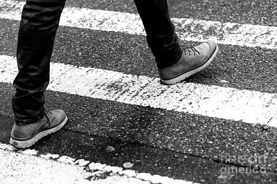 Photograph - Crossings Laced Shoes New York City by John Rizzuto