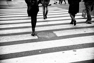 Photograph - Crossings Linear New York City by John Rizzuto