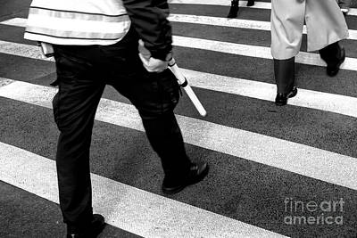 Photograph - Crossings Police New York City by John Rizzuto