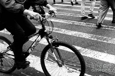 Photograph - Crossings Quickly New York City by John Rizzuto