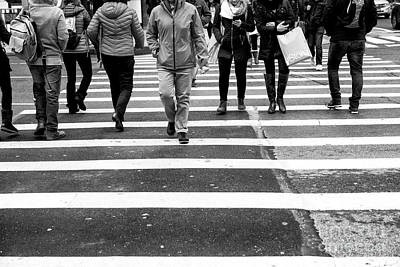 Photograph - Crossings Straight Line New York City by John Rizzuto