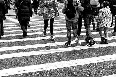 Photograph - Crossings Through The Middle New York City by John Rizzuto